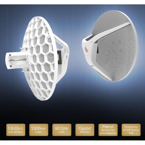 MikroTik Wireless Wire Dish (RBLHGG-60adkit)