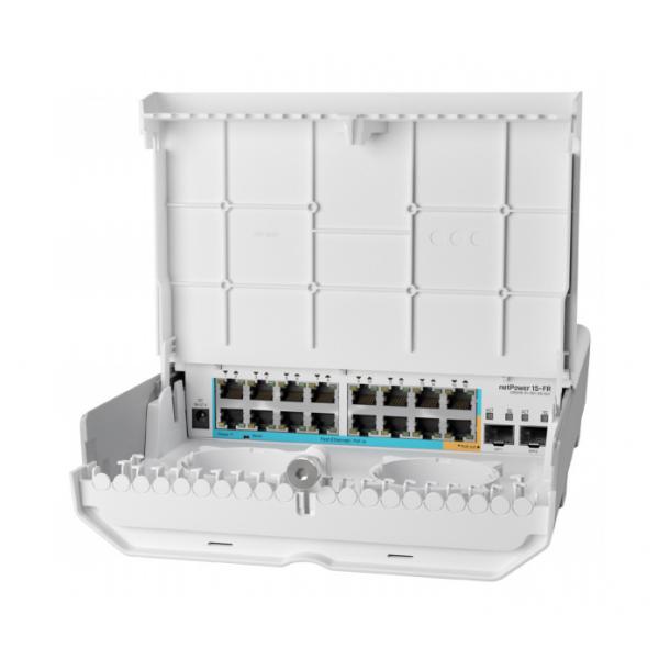 MikroTik netPower 15FR CRS318-1Fi-15Fr-2S-OUT | Switch | 16x RJ45 100Mb/s, 2x SFP