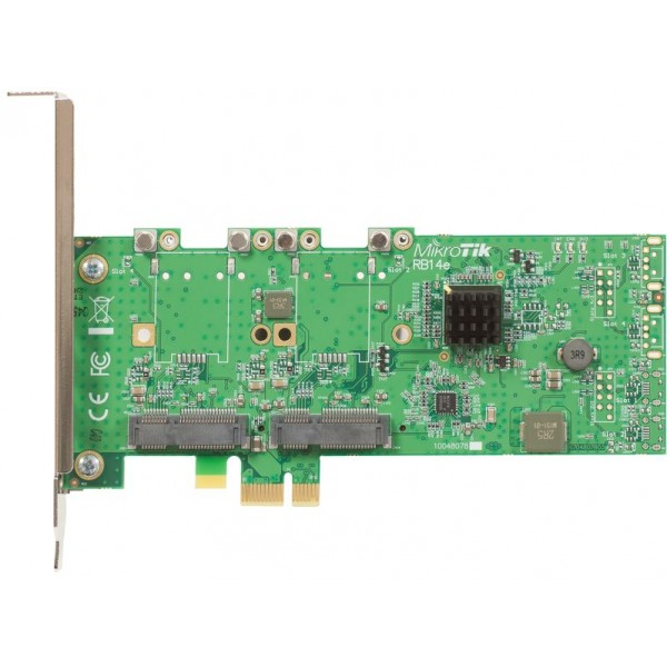 MikroTik RB14e | PCI Adapter | 4x miniPCI-e to PCI-e