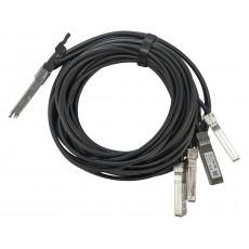 MikroTik Q+BC0003-S+ | DAC QSFP+ Cable | 40Gb/s to 4x 10Gb/s SFP+, 3m