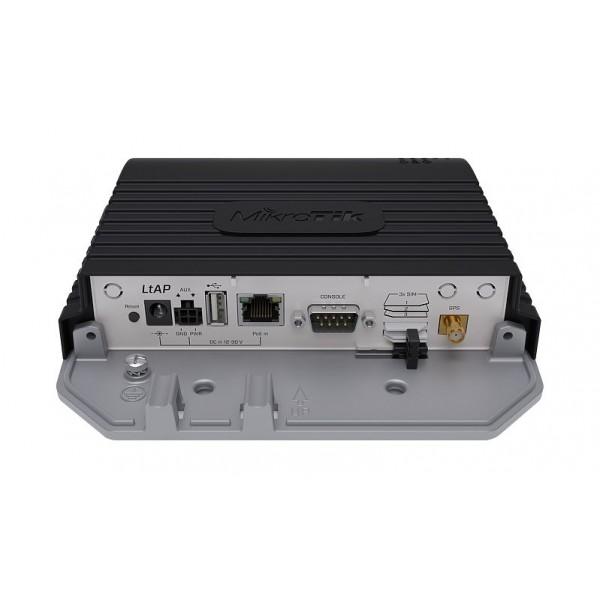 MikroTik LtAP 4G kit | LTE Router | RBLtAP-2HnD&R11e-4G, 4G 150Mb/s, 2,4GHz, 1x RJ45 1000Mb/s, 2x miniPCI-e, 3x SIM, 1x USB