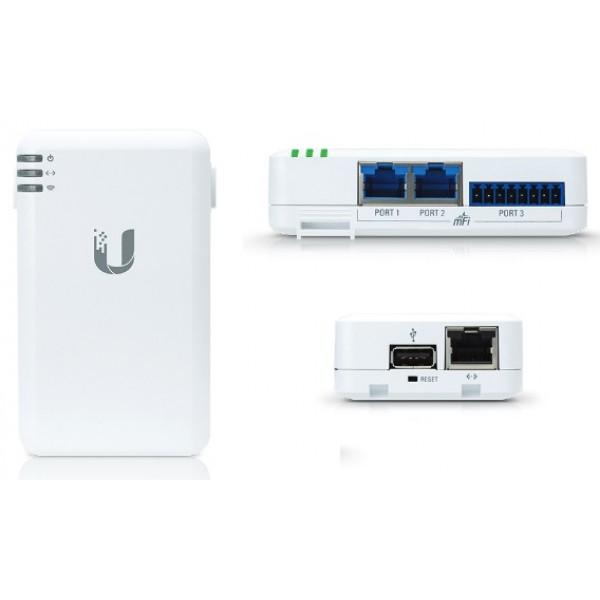 Ubiquiti mPort | mFi Interface | 1x Ethernet, 2x mFi RJ45, 1x mFi Terminal