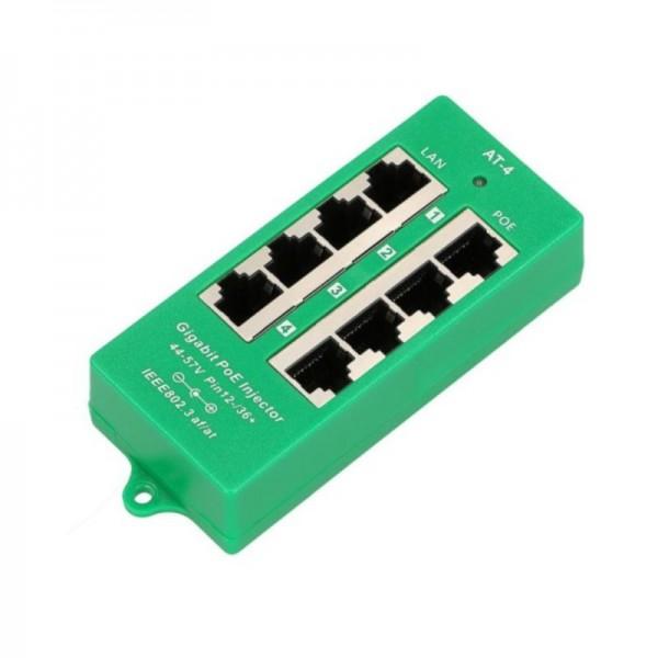 ExtraLink Гигабитная 4 портовая панель PoE инжектор