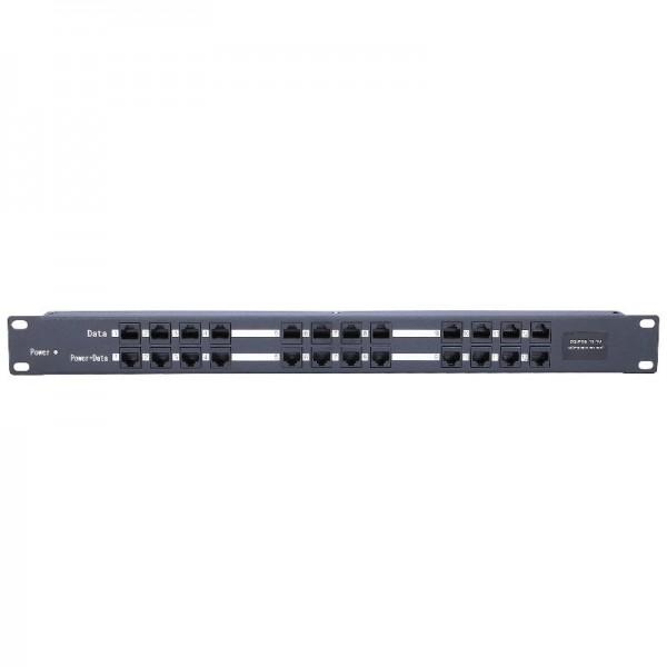 12-портовая панель PoEинжектор ZQPOE012
