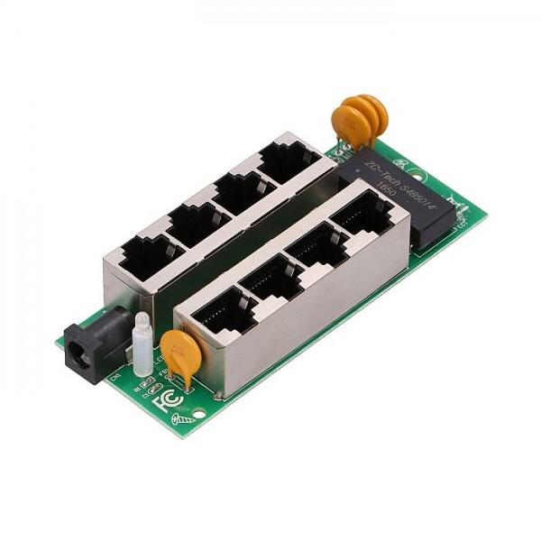 Гигабитная панель PoE инжектор Extralink на 4 порта